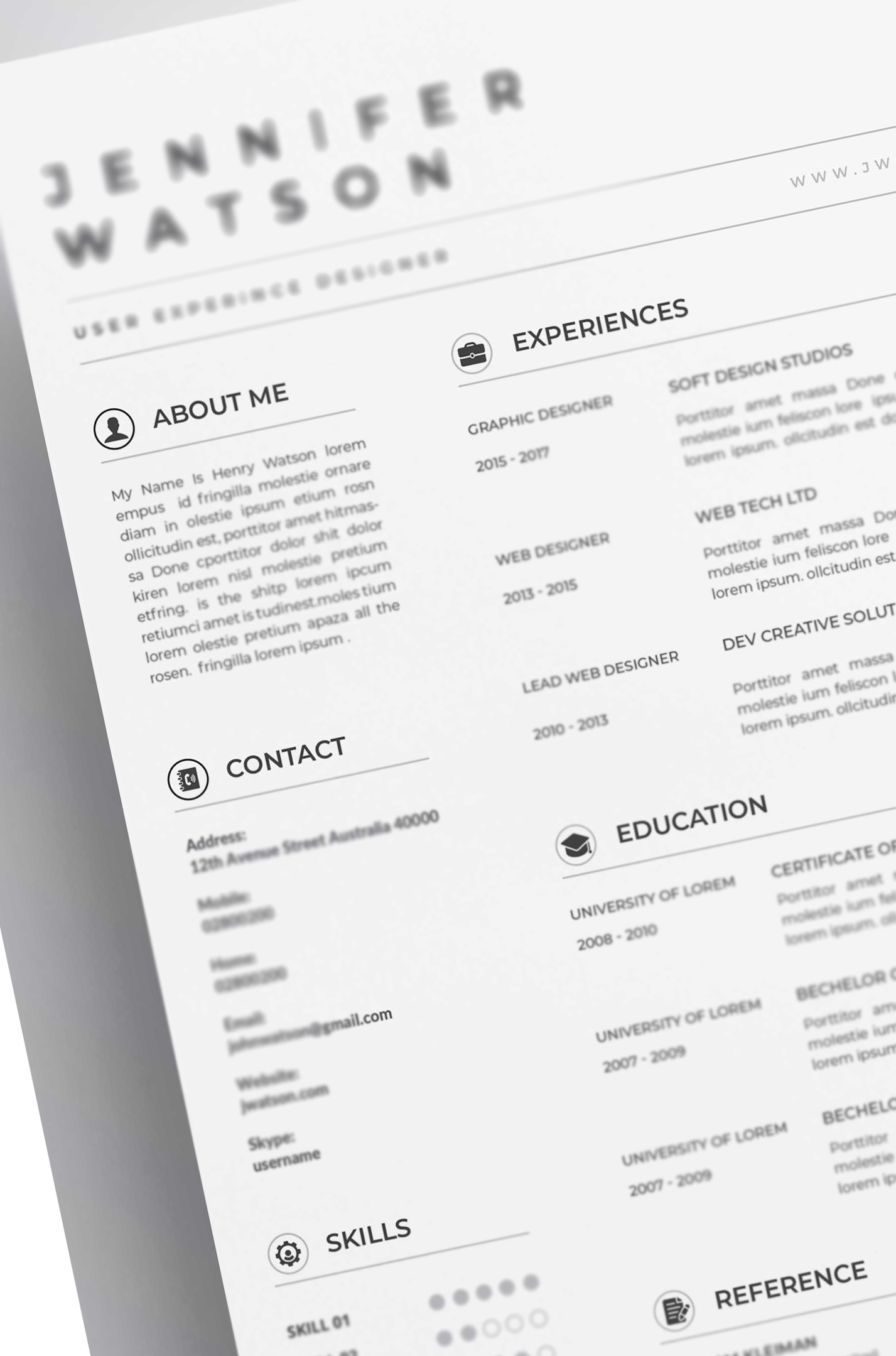 Generic picture of a resume