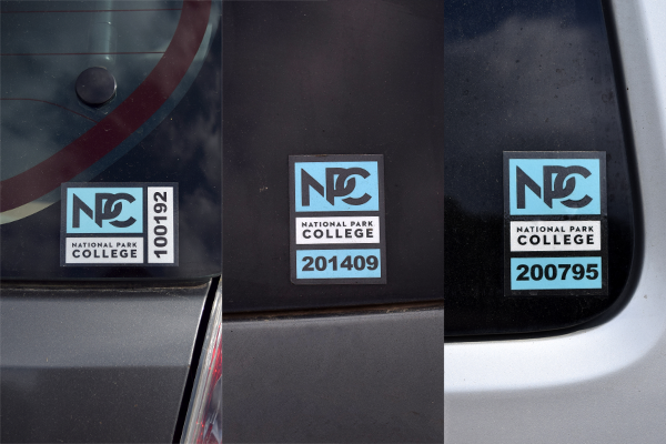 parking decal example picture