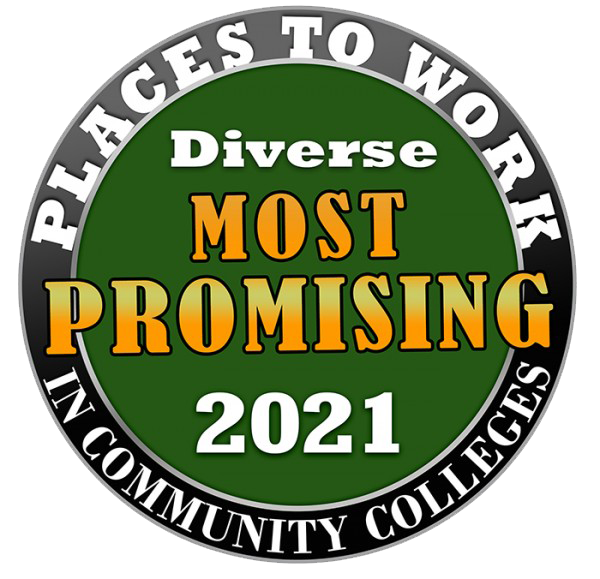 National Park College badge for 2021 most promising places to work in community colleges.