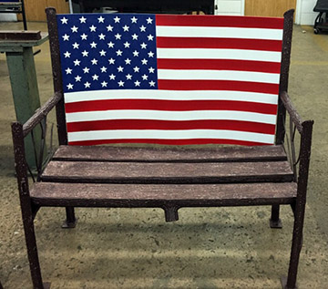 Welding Students Donate Bench to VA Clinic