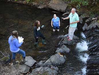 Geology Class Performs Field Tests At Gulpha Gorge