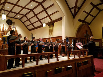 "National Park College (NPC) Singers presented ""Midwinter,"" for their holiday choral concert Tuesday at St. Luke's Episcopal Church."