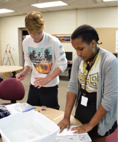 NPTC Pre-Engineering Classes Practice Oil Spill Containment