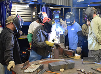 NPC Designs Welding Training for Timber Automation Employees