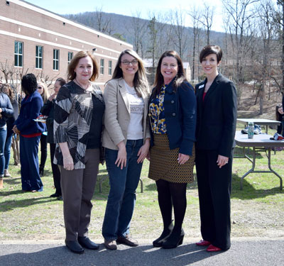 Pictured left to right, Mary Kay Wurm, Angela Echols, Tamra Barrett, and Katherine Polczynski, greater Hot Springs Chamber of Commerce Woman of the Year nominees.